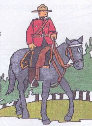 mountie a coloring page